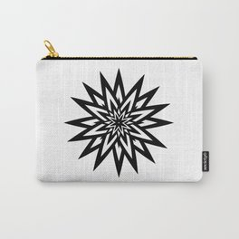 black and white shining star Carry-All Pouch
