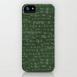 Geek math or economic pattern iPhone Case