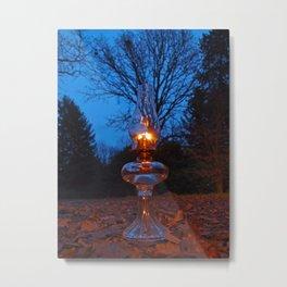 Classic oil lamp Metal Print