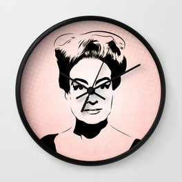 Joan Crawford - Hollywood Royalty - Pop Art Wall Clock