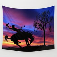 cowboy Wall Tapestries featuring Cowboy by Laureenr