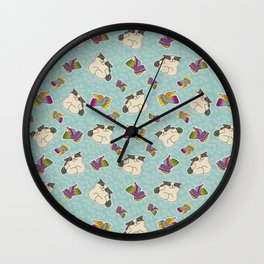 Missy and birds Wall Clock