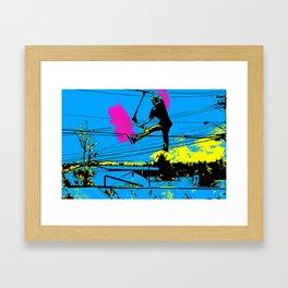 Tailgating - Stunt Scooter Tricks Framed Art Print