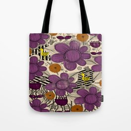 Floral Whimsical Bohemian Print Tote Bag