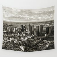 melbourne Wall Tapestries featuring Melbourne City by Ewan Arnolda