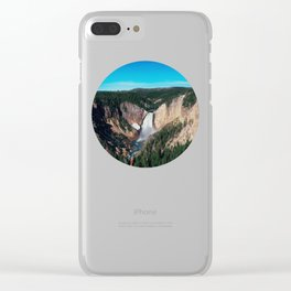 Yellowstone x Lower Falls Clear iPhone Case