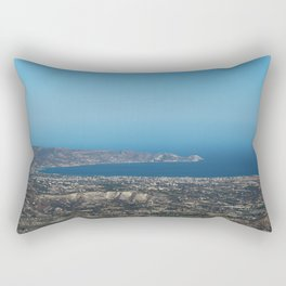 View On Heracleon And The Sea On Crete in Greece Rectangular Pillow