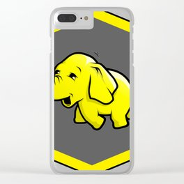 hadoop Stickers Elephant Programming Big data Sql  Developer Clear iPhone Case