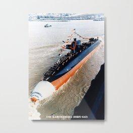 USS KAMEHAMEHA (SSBN-642) Metal Print