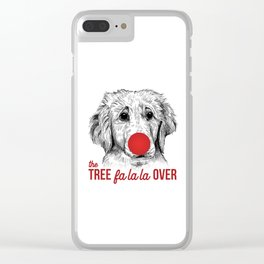 Christmas Puppy Clear iPhone Case