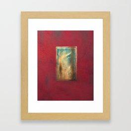 Deep Red, Gold, Turquoise Blue Framed Art Print