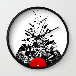 Vinyl shatter Wall Clock