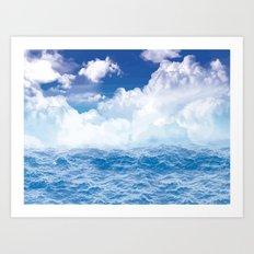 Wolken über dem Meer Art Print