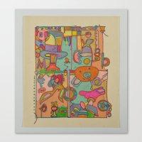 pixies Canvas Prints featuring 'Pixies' by T.W.Dixon