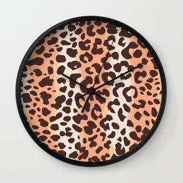 Leopard Seamless Pattern Wall Clock