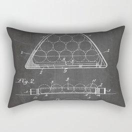 Pool Patent - Billiards Art - Black Chalkboard Rectangular Pillow