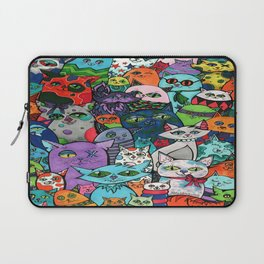 Crazy Cats Color  Laptop Sleeve
