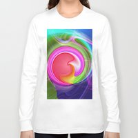 """agate Long Sleeve T-shirts featuring """" Agate """"  by shiva camille"""