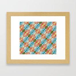 Vibrant Geometric Rainbow Framed Art Print