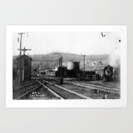 M&K Railroad Yard Art Print