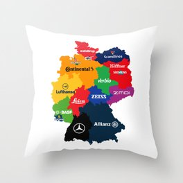 The Corporate Länder of Germany Throw Pillow