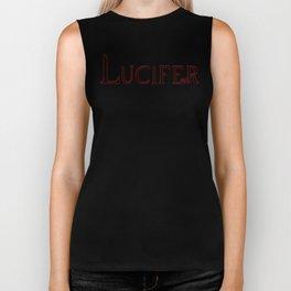 Archangel Lucifer with Feather Dark Biker Tank