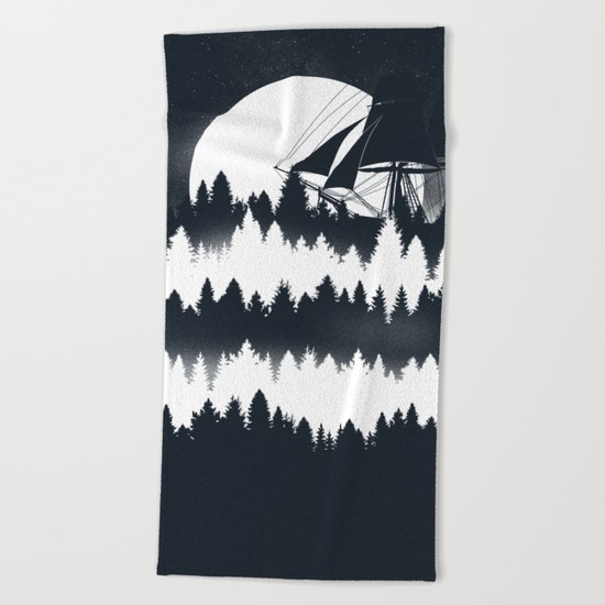 Forest Wave Beach Towel
