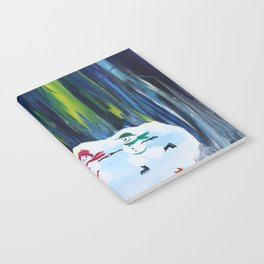Christmas Night with dancing snowmen Notebook