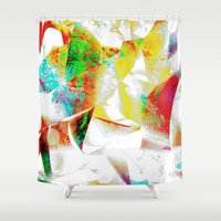 silver Shower Curtains featuring Silver by Yilan