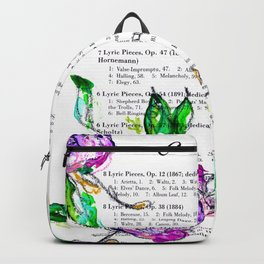 Book contents - Floral painting Backpack