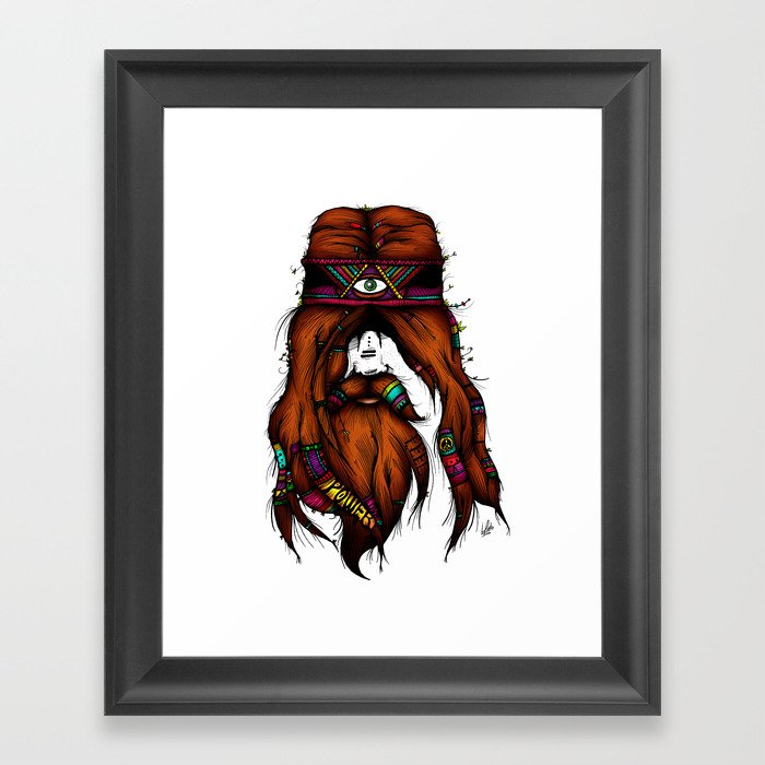 Feel, Peace, Love & Power (Color Version) Framed Art Print