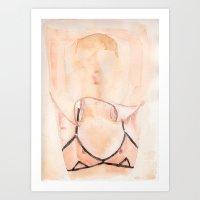karu kara Art Prints featuring Kara Neko by Aaron Tsuru