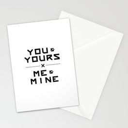 Yours x Mine Stationery Cards