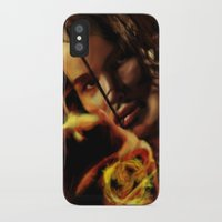 katniss iPhone & iPod Cases featuring Katniss by tgronberg