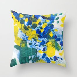 Pool Leaves Throw Pillow