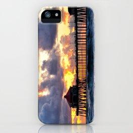 Sunset HB Pier  (10-28-13) iPhone Case