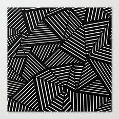 Ab Linear oom Black Canvas Print