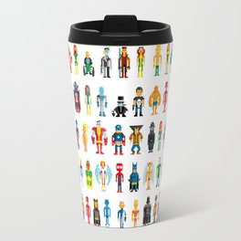 Pixel Heroes Travel Mug