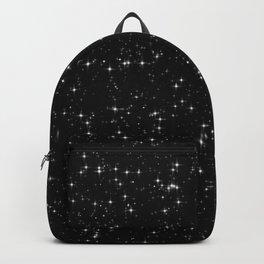 Glitter Stardust Pattern Black Galaxy Backpack