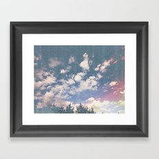 color sky Framed Art Print