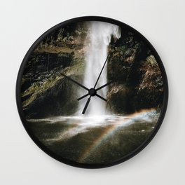 Rainbow Waterfall Wall Clock