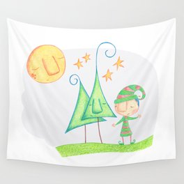 Christmas elf Wall Tapestry