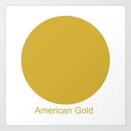 American Gold Art Print