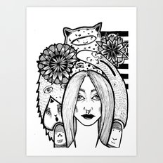 Friends and me Art Print
