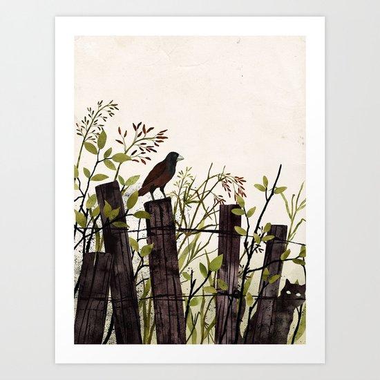 Art of Bird Watching Art Print