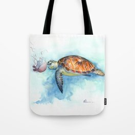 Turtle Noms Tote Bag