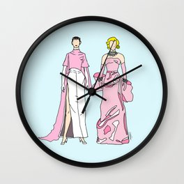 Pretty in PINK it like Audrey and Marilyn Wall Clock