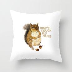 Irreverent Squirrel Throw Pillow