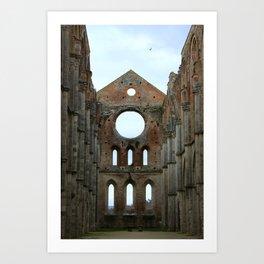 San Galgano Abbey Art Print