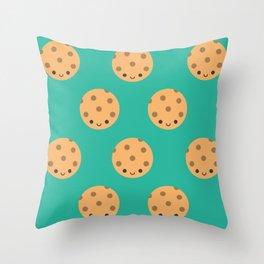Cute Kawaii Cookies Throw Pillow